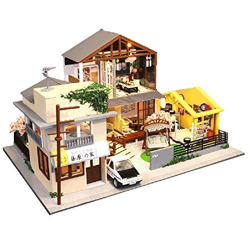HFJLL Casa de muñecas DIY, Montaje de Casitas Hechas a Mano, Regalos creativos