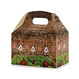 10Rosso Bianco a Quadretti Verde scatole di Natale (12,5x 18,6x 12cm) scatole regalo per Natale come scatole regalo per i clienti dipendenti Amici Come Mitgebsel–regalo Confezione Di Cartone