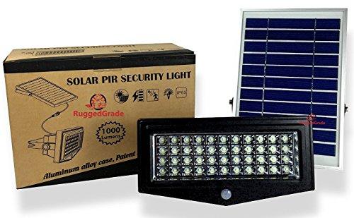 High Power 1000 Lumen Solar Motion LED Flood Light
