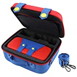 Travel Carrying Storage Case Compatible with Nintendo Switch System Protective Hard Shell Cute Deluxe Bag for Console Controller Accessories