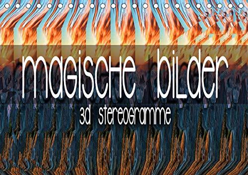 Magische Bilder - 3D Stereogramme (Tischkalender 2021 DIN A5 quer)
