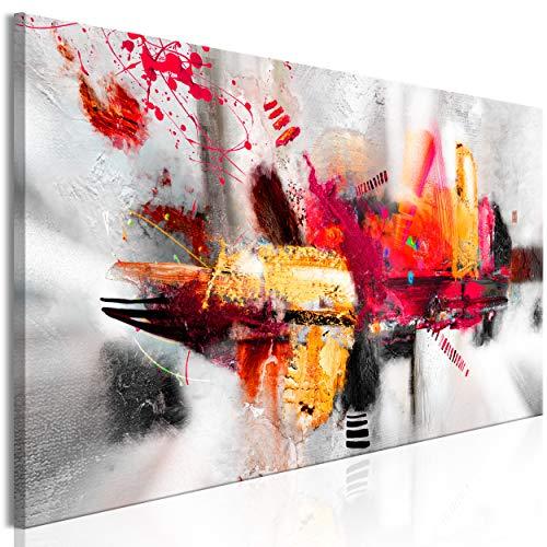 decomonkey Bilder Abstrakt 150x50 cm 1 Teilig Leinwandbilder Bild auf Leinwand Vlies Wandbild Kunstdruck Wanddeko Wand Wohnzimmer Wanddekoration Deko Modern bunt wie gemalt