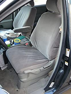 Black Titan Waterproof Car Front Seat Covers with Armrest Holes to fit Honda CR-V 2001-2006
