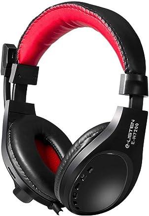 LLQ Cuffie Stereo con Cavo Doppia Cuffia Stereo con Microfono Auricolare Stereo_EH-7200_Earphone Rosso Nero - Trova i prezzi più bassi