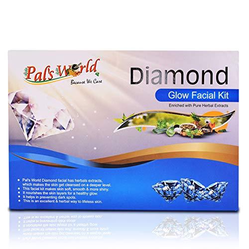 Pal's World Diamond Glow Facial Kit - Women Skin Care Radiance Treatment - Beauty Care Dark Spots Reduce Experts Choice