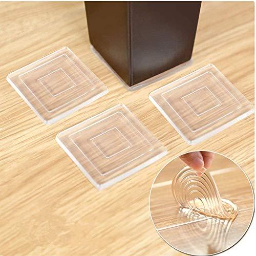 """Non Slip Furniture Pads – Premium 8 pcs 3"""" Furniture Grippers Best SelfAdhesive Silicone Feet Furniture Legs– Ideal Non Skid Furniture Pad Floor Protectors for Fix in Place Furniture"""