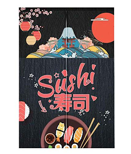 Black Temptation [Sushi-1] Noren japonés Cortina de Puerta de la Cocina Cortinas Puerta Cortina Decoración