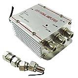 Takestop® Amplificador Señal TV D3Bifurcador Antena 3salidas Digital Terrestre