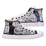 NXMRN Naruto Zapatos De Lona Negros Impresos para Hombre Todos Los Zapatos Vulcanizados Zapatos De Skate Casuales para Mujer Zapatillas De Deporte-39