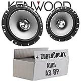 Lautsprecher Boxen Kenwood KFC-S1756-16cm Koax Auto Einbauzubehör - Einbauset für Audi A3 8P - JUST SOUND best choice for caraudio