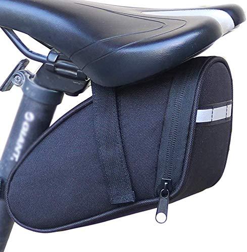 HUIZHANG Bike Seat Saddle Mountain Bikes Bag Bicycle Repair Tools Pocket Pack Riding Supplies (Black)