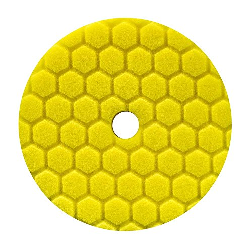 Chemical Guys BUFX111HEX6 Hex-Logic Quantum Heavy Cutting Pad (Yellow, 6.5 Inch)