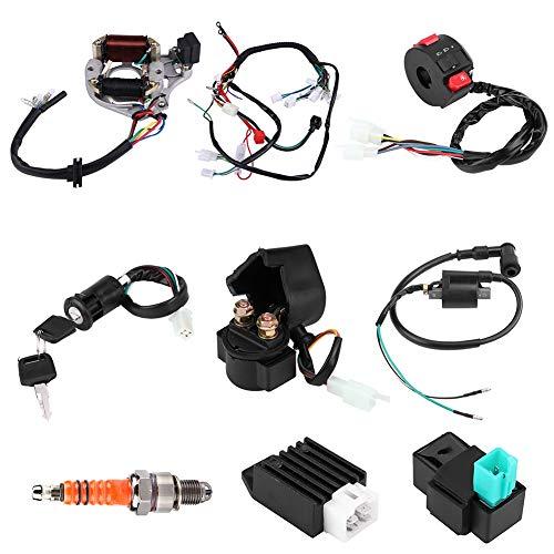 Kit de cableado de montaje, bobina de encendido CDI bobina electromagnética magnética para ATV Quad 50 cc 70 cc 90 cc 110 cc 125 cc