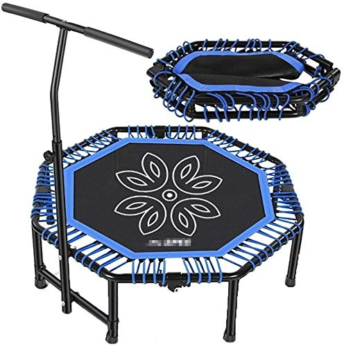 Gymqian Adults and Children Indoor Fitness Trampoline Cardio Adjustable Handle Super Sound-Off Octagon Trampoline 48 Inches Profession
