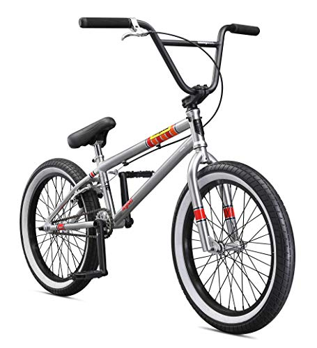 Mongoose Legion L100 Boy's Freestyle BMX Bike, 20-Inch Wheels, Silver