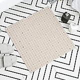 xuandaolin Quadratische Duschmatten rutschfest Anti-Schimmel rutschfest Duschmatte Anti-Fall Anti-Mehltau Khaki 53 * 53cm