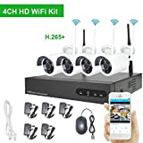 Wireless CCTV Camera System 1080P, Myada 4CH WiFi CCTV Camera Security System 2MP