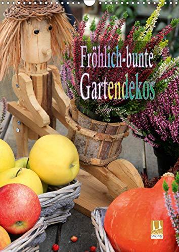 Fröhlich-bunte Gartendekos (Wandkalender 2021 DIN A3 hoch)