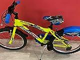 CINZIA Bicicleta Flipper MTB Boy de 20 pulgadas, color amarillo, cambio Shimano 6 V