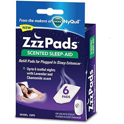 2 Pack: ZzzPads Scented Sleep-Aid Refill Pads for Plugged In Sleep Enhancer, 6 pads each