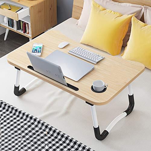 GZH - Mesa plegable para ordenador portatil, escritorio de regazo portatil con ranura para cama y sofa, mesa de comedor multifuncion, mesa de comedor plegable, para ver peliculas en la cama