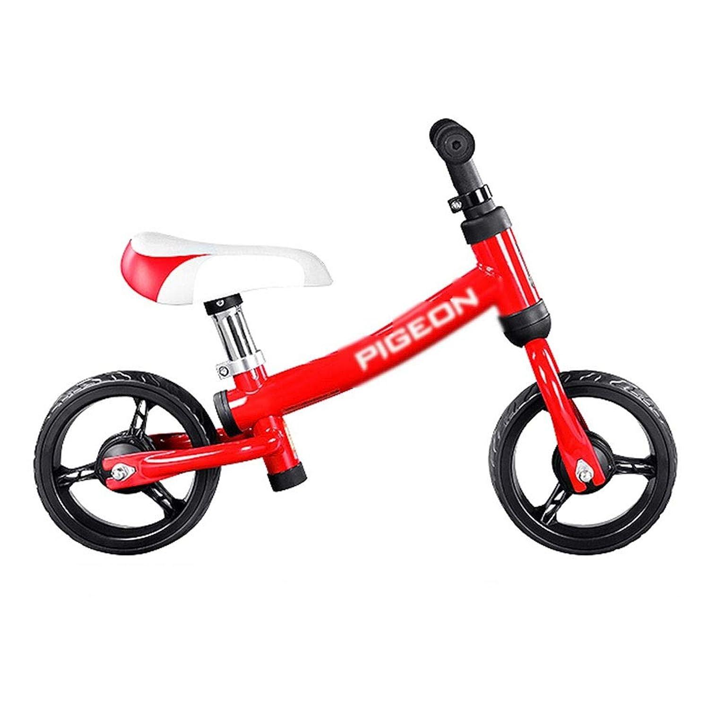 バランス車車のバランススクーター現代の子供のバランス車1?4歳の車のバランスの男の子と女の子の二輪車子供ペダルペダルのバランスバイクなし (Color : Red, Size : 63*47cm)