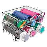 mDesign 2er-Set Flaschenständer – praktisches Flaschenregal zur Aufbewahrung von je 3 Wasser-...
