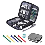 sunsir Travel Cable Organizer Bag Waterproof Portable Electronics...