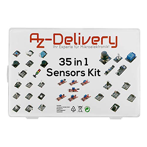 AZDelivery 35 in 1 Sensor Modules & Accessories Kit for Arduino & All Microcontrollers including eBook
