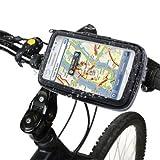 Wasserfeste Fahrradhalterung Bike Fahrrad MTB & Motorrad Halter mit Tasche für Smartphone / Handy (Alcatel Onetouch Idol 3 5.5 Zoll)