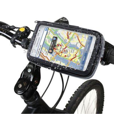 Wasserfeste Fahrradhalterung Bike Fahrrad MTB und Motorrad Halter mit Tasche für Smartphone / Handy (Motorola Moto X Style 32GB)