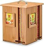 Bamboo Rotating Tea Holder Organizer - Wood Carousel Spinning Tea Storage Box - Organize 160 Tea Bags, 4 Compartments 40 Tea Bags in Each - Great Gift Idea