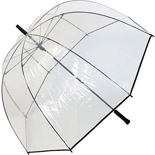 Elegante ombrello a cupola in taglia XXL da 103 cm, trasparente