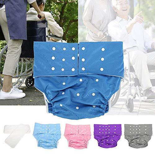 Adult Pocket Windel, verstellbare wiederverwendbare Windeltücher Adult Windeln/Super Absorbent Wiederverwendbare Taschenwindeln Einfach zu tragen und zu wechseln(Dunkelblau)