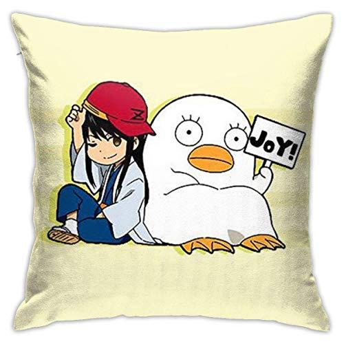 Used Gintama Cosplay Cotton Pillow Throw Cushion Cover Case Home Decoration Fundas para Almohada 26x26Inch(65cmx65cm)