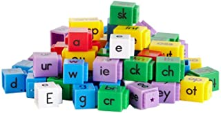 hand2mind Reading Rods, Phonics Word-Building Letter Cubes (Set of 141)