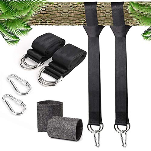 MuZhuo - Cinghie per amaca, 1 paio di cinghie di sospensione, protezione per albero, per altalena,...