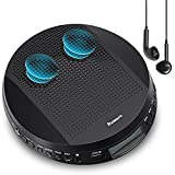 Portable CD Player with Stereo Speakers and Headphones, Personal Compact Disc CD Player with LCD...
