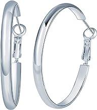 Hoop Earrings 14K Gold Plated S925 Sterling Silver Post Earrings Circle Huggie Chunky Hoop Earrings for Women Girls