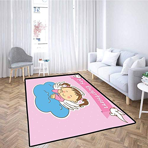 Why Should You Buy Extra Large Playmats Pair of Wings on Cloud Girl Anniversary Baby Announcement Ca...