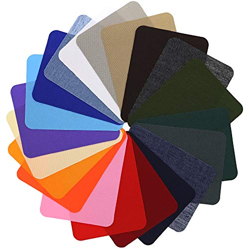 Bright Creations Iron On Jean Denim Clothing Repair Patches (36 Count) Assorted Colors