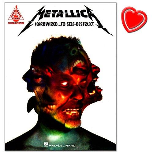 Metallica - Hardwired.To Self-Destruct - Gecomponeerd door Matt Schofield - Serie: Guitar Recorded Version - Songbook (zgitaar/rockscore) met kleurrijke hartvormige muziekklem