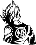 Dragon Ball Z (DBZ) - Goku Super Saiyan Anime Decal Sticker for Car/Truck/Laptop (6.2' x 5.0', Black)