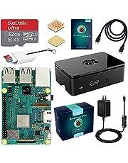 ABOX Raspberry Pi 3 Model b+ ラズベリーパイ 3 b+ MicroSDHCカード32G/NOOBSシステムプリインストール/カードリーダ /5V/3A スイッチ付電源/高品質HDMIケーブルライン/ヒートシンク /簡単に取り付けケース /日本語取扱説明書/24ヶ月保証
