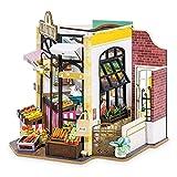 ZIHUAD DIY Carl's Fruit Shop Doll House con Muebles Niños Adulto Casa de muñecas Miniatura Motor Kits de Madera Juguete