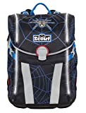 Scout Sunny Exklusiv Schulranzen Set 4tlg. Safety Light Dark Spider