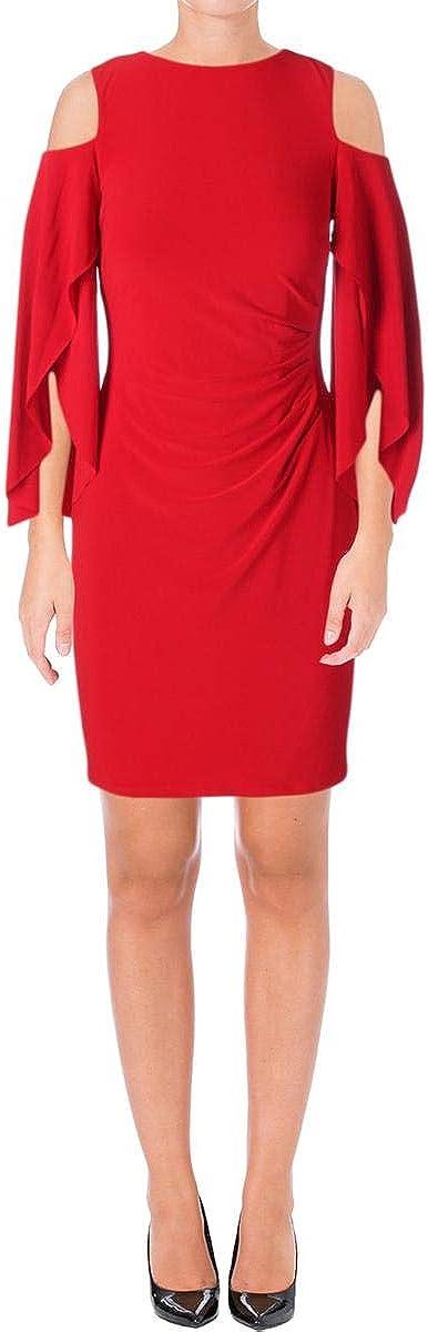 Lauren by Ralph Lauren Women's Cold-Shoulder Jersey Dress