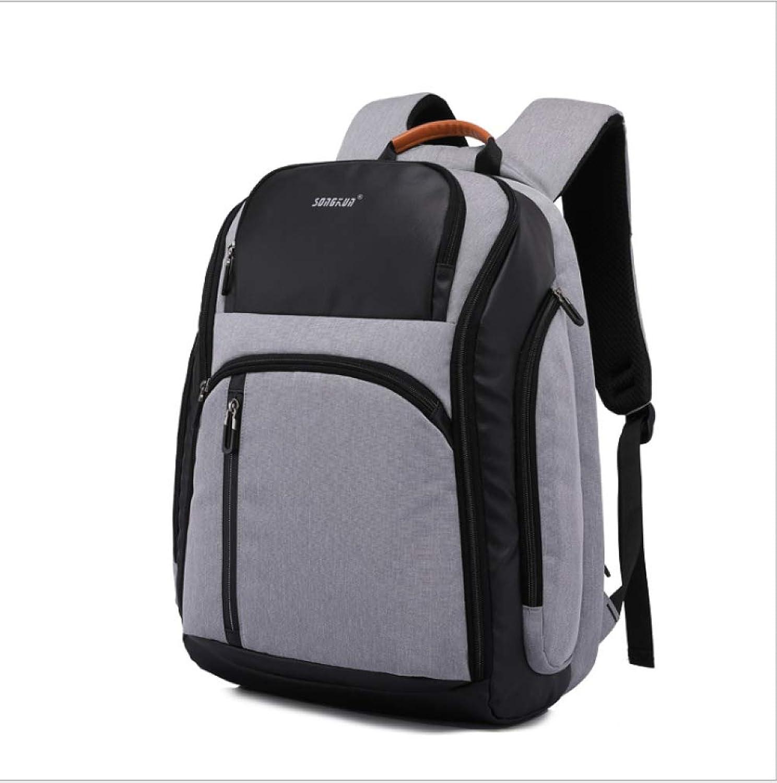 QWKZH Computertasche Mode lssig Rucksack mnnlichen Tasche Multifunktions Reisetasche mit groer Kapazitt