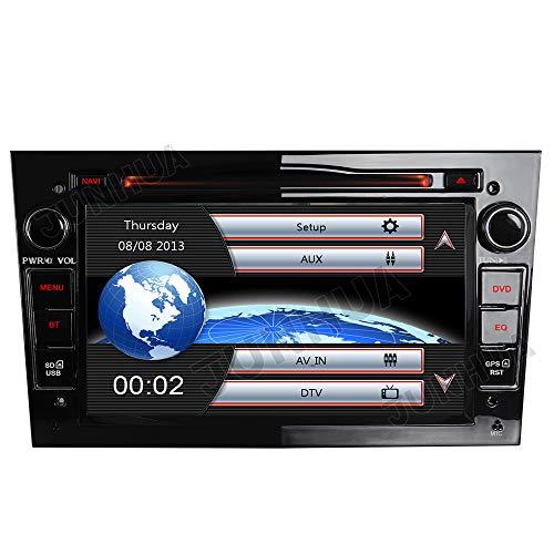 Schwarz Autoradio Radio für Opel Astra Corsa Zafira mit Navi DVD Player Unterstützt Bluetooth DAB+ USB CD DVD MicroSD 2 Din 7 Zoll Bildschrim Free 16G-Karte