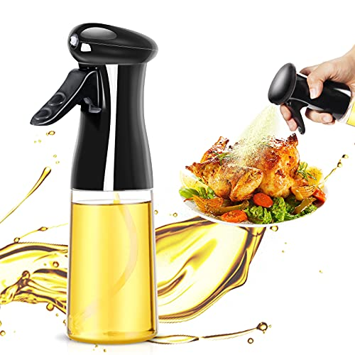 Comforer Oil Sprayer 210ml Oil Spray Bottle Kitchen Gadgets for Air Fryer,Cooking,Salad,BBQ,Backing,Roasting,Frying